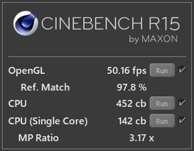 CINEBENCH R15 を使ってHUAWEI Matebook X Pro Core i 5モデルをテストした結果