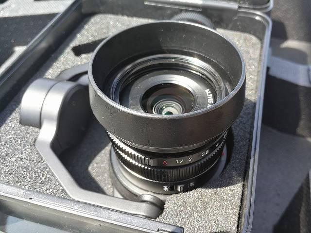 DJI Inspire2のZENMUSE X5S カメラ横からの画像