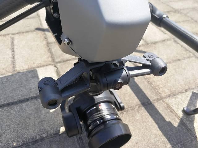 DJI Inspire2本体前面カメラ部上方向からの画像