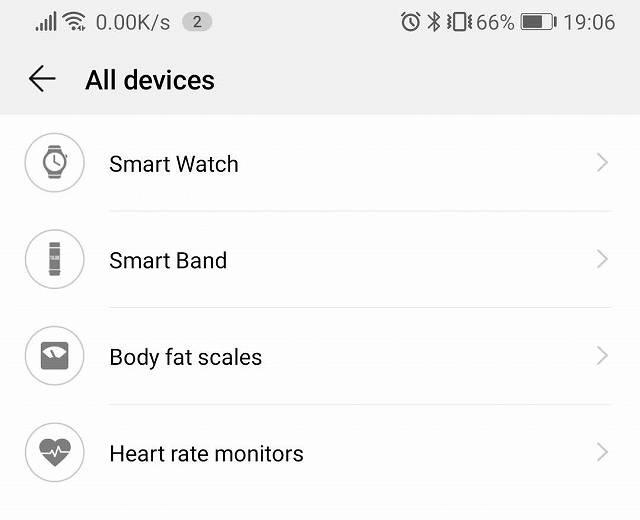 HUAWEI HealthでHUAWEI Band 3 を追加するときSmartBandを選ぶ画像