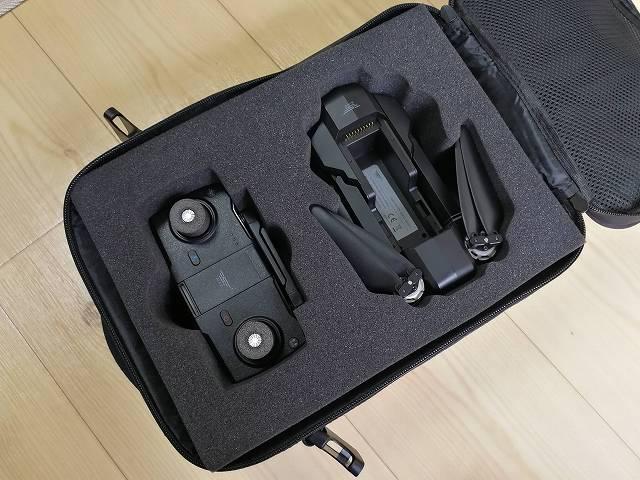 SJRC F11専用キャリングバッグにドロオーンを収めた画像