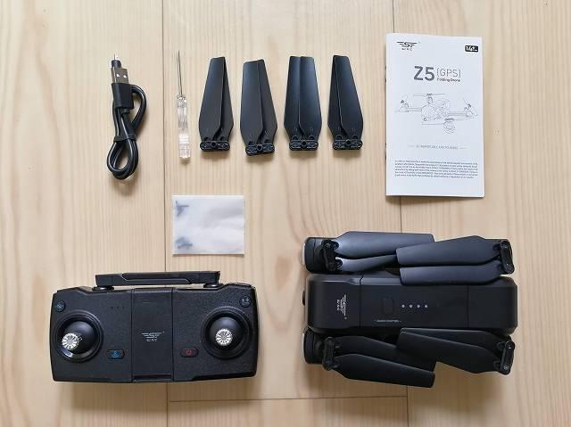 SJRC Z5の内容物一式の画像