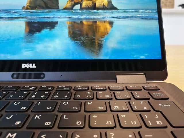 New XPS13 2-in-1 プレミアム のキーボード画像