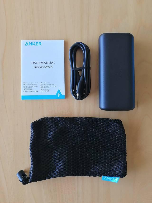Anker PowerCore 10000 PD の付属品一覧画像