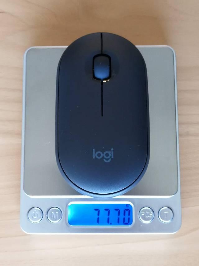 logicool Pebble M350 の重量計測画像