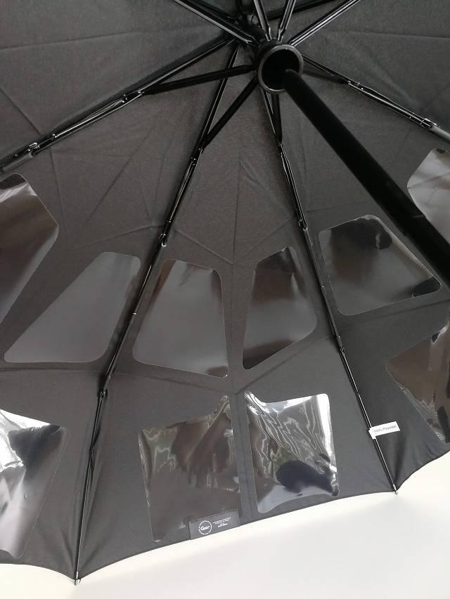 Nano Easy Umbrella の生地に貼り付けてあるスライスの画像