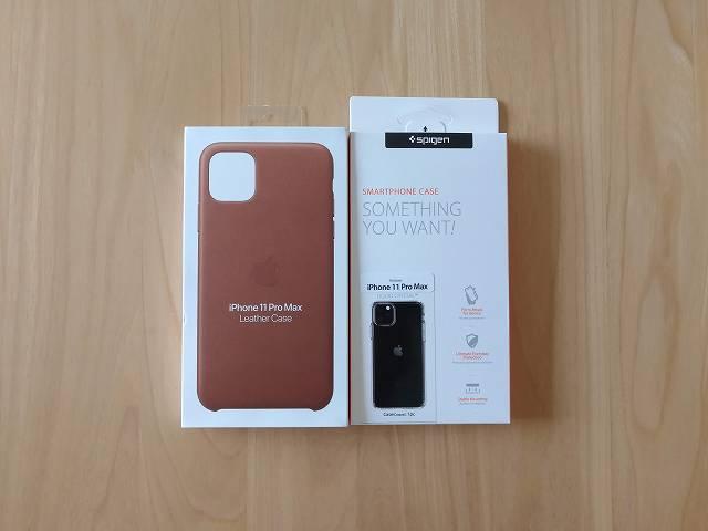 iPhone11 Pro Max Apple純正レザーケース サドルブラウンと使い分けるために一緒に購入したクリアケース