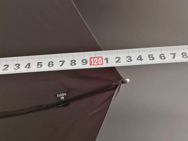 Zuoduの開いた状態の直径を計測している画像