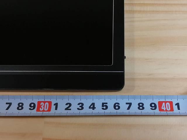 Lepow Z1 の横幅を計測している画像