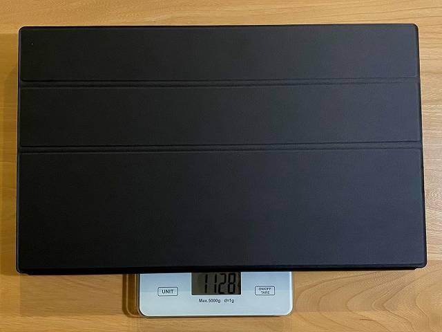 Lepow Z1 のカバーを含む本体重量を計測している画像