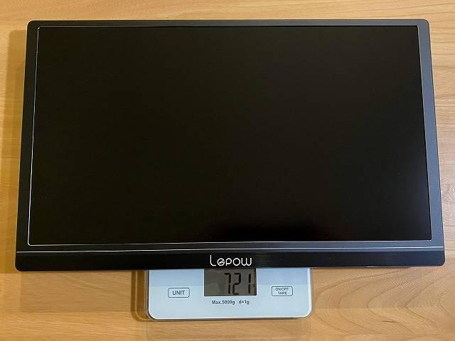 Lepow Z1 の本体重量を計測している画像