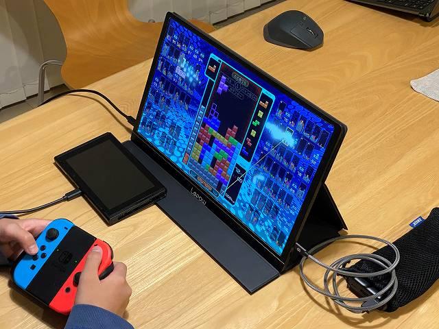 Lepow Z1 をニンテンドースイッチのディスプレイとして使っている画像
