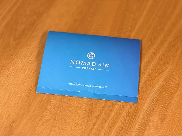 Nomad SIM Pripaidのパッケージ画像
