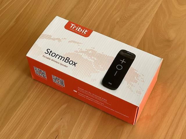 Tribit Stormboxの外箱画像