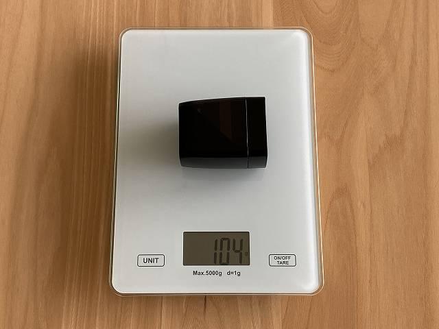 GENKI Dockの重さを計測した画像