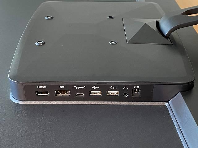JAPANNEXT『JN-IPS320CUHDR-N』の背面ポート付近部分画像
