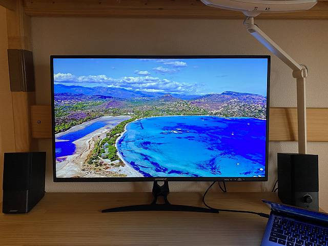 JAPANNEXT『JN-IPS320CUHDR-N』の色合いテスト画像