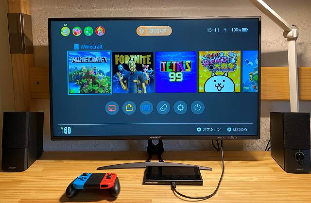 JAPANNEXT『JN-IPS320CUHDR-N』はNintendo Switchにも使える