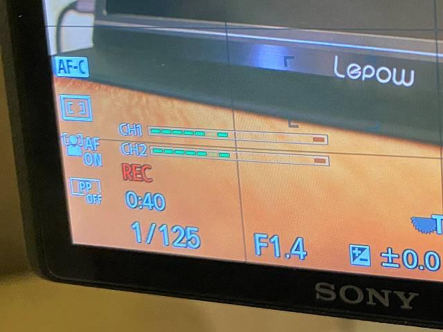 SONY α6400 の動画撮影時のREC表示は小さい