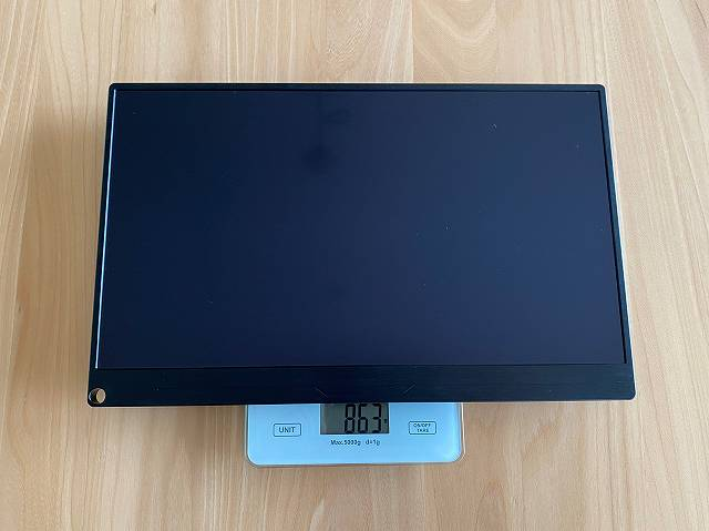 EVICIV EVC-1506の本体のみの重量を計測している画像
