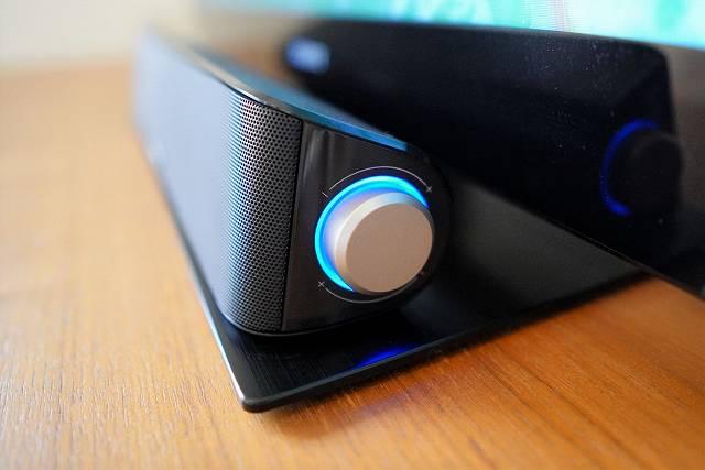 TaoTronics TT-SK028の青く光るダイヤル部分のLED