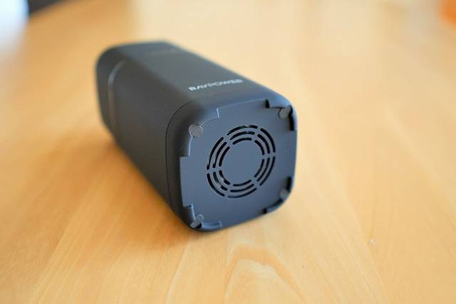 『RAVPower RP-PB054Pro』の底面部分のファン