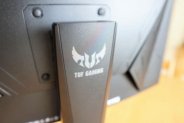 ASUS TUF Gaming VG27VQ の支柱背面の画像
