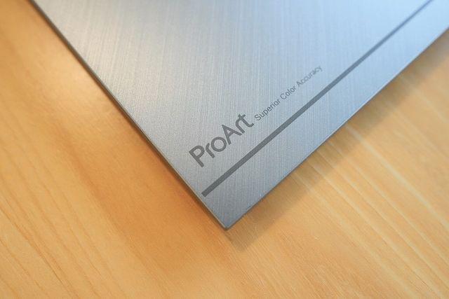 ASUS ProArt PA278QVの台座部分のProArtロゴ