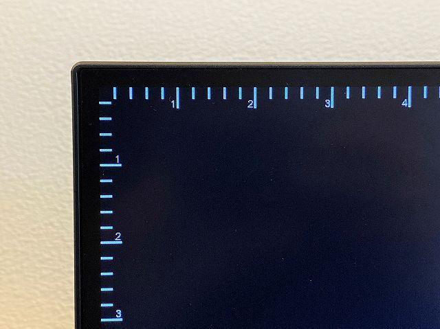 ASUS ProArt PA278QVのルーラーを表示した状態の画像