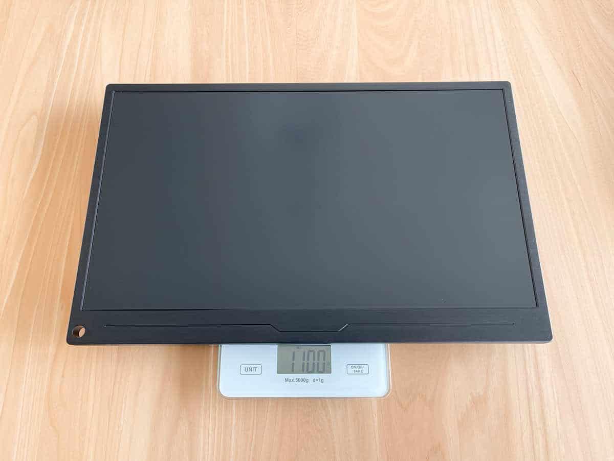 EVICIV EVC-1701 本体の重さを計測している画像