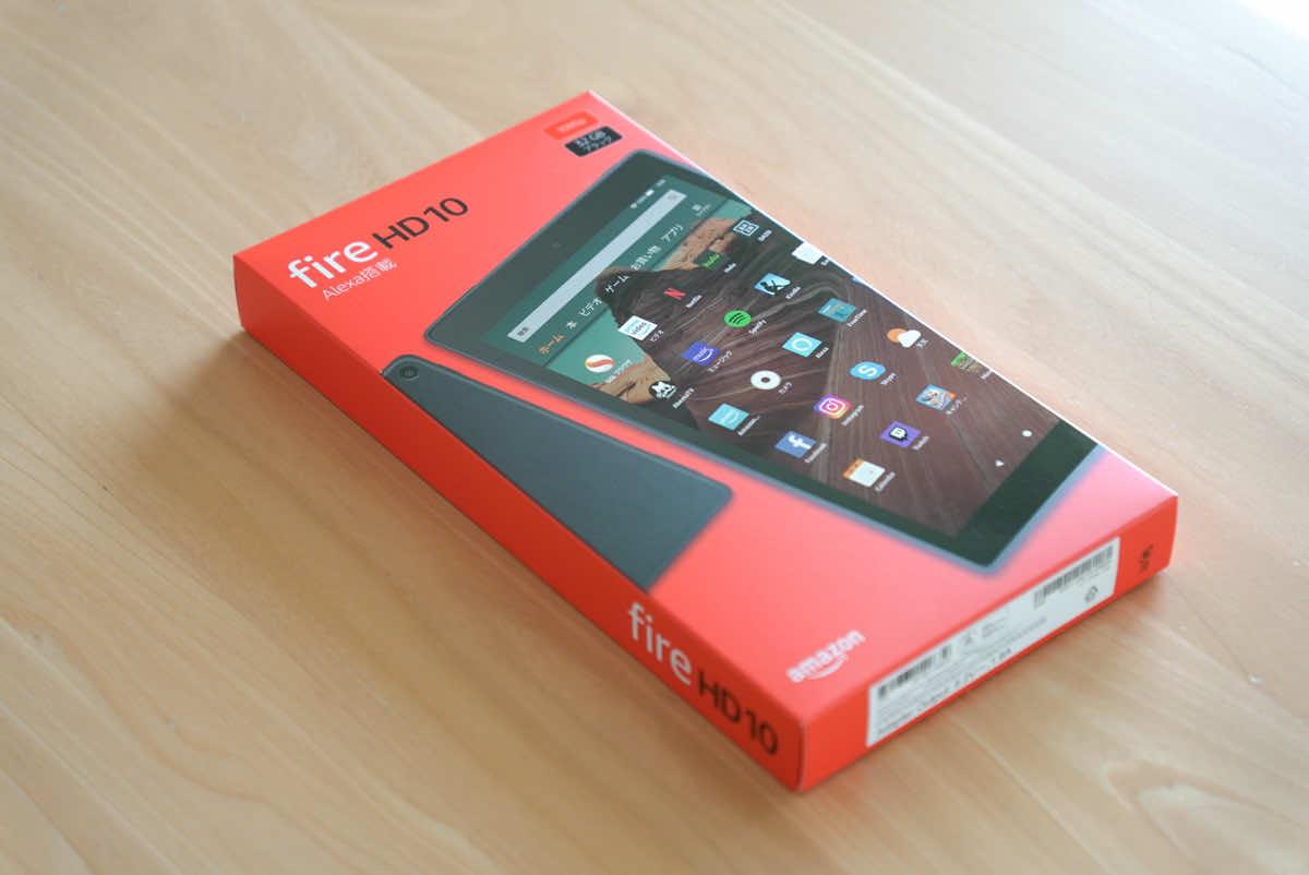 Amazon fire HD 10の外箱画像