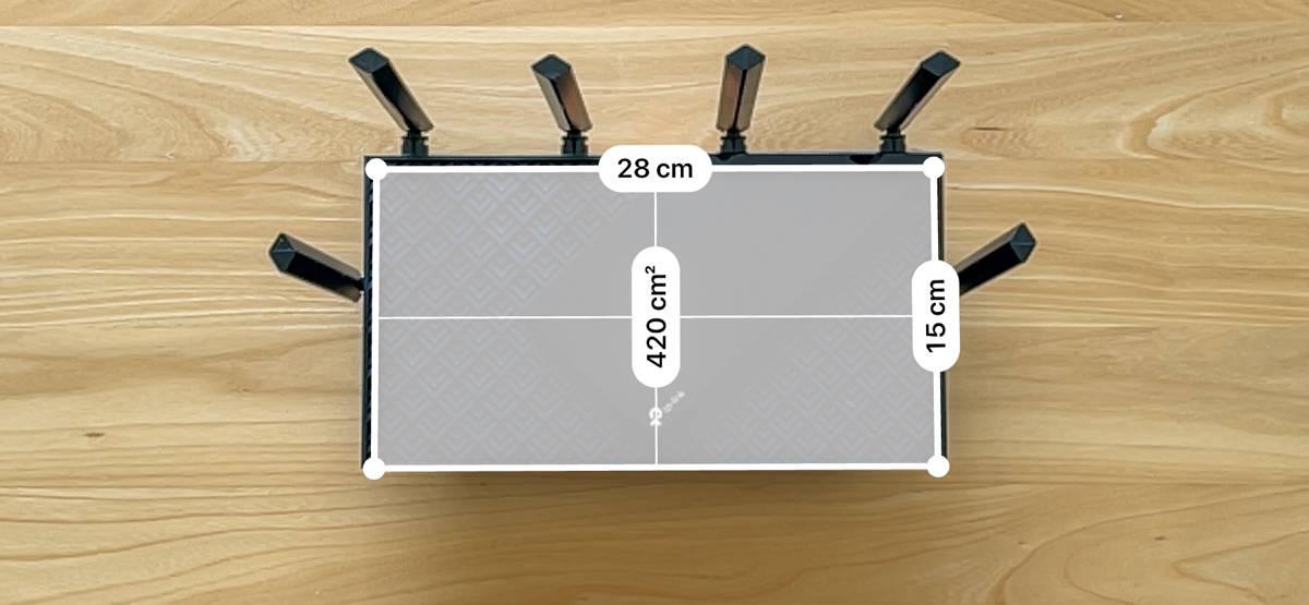 TP-Link Archer AX73 の大きさがわかる画像