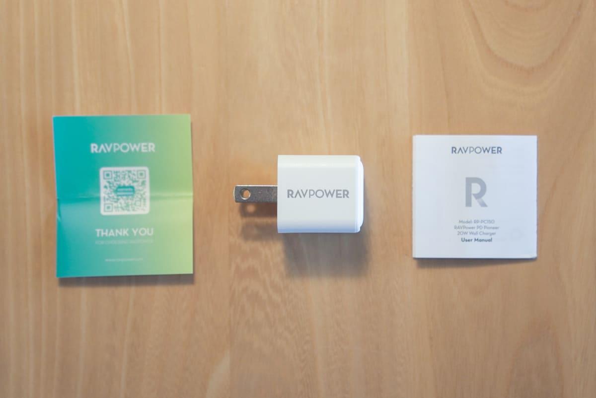 RAVPower RP-PC150の付属品一覧の画像