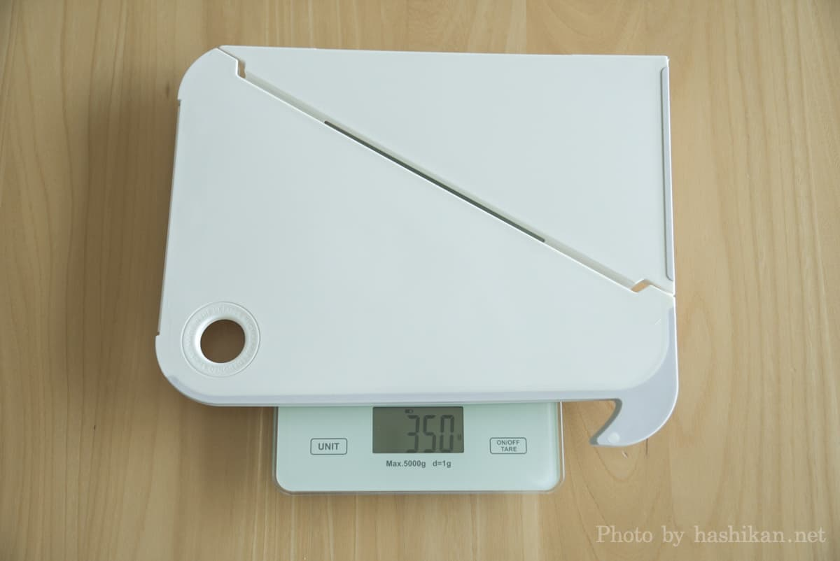 Oripuraの重さを計測している状態の画像