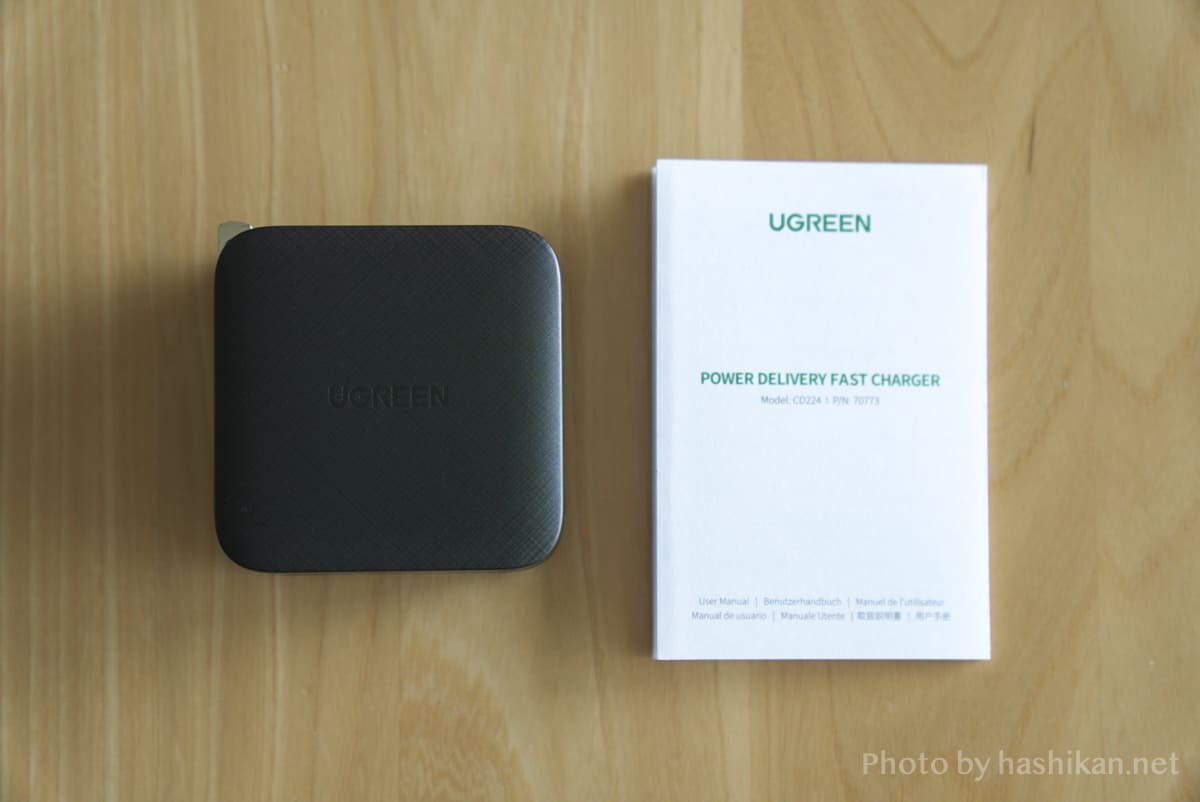UGREEN PD充電器 65W GaN 4ポート充電器の内容物一覧の画像