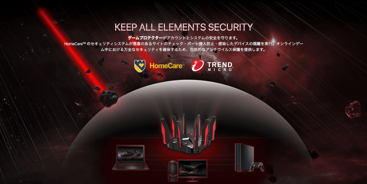 TP-Link Archer GX90 のゲームプロテクションはトレンドマイクロのデータベースをしようして通信をスキャン