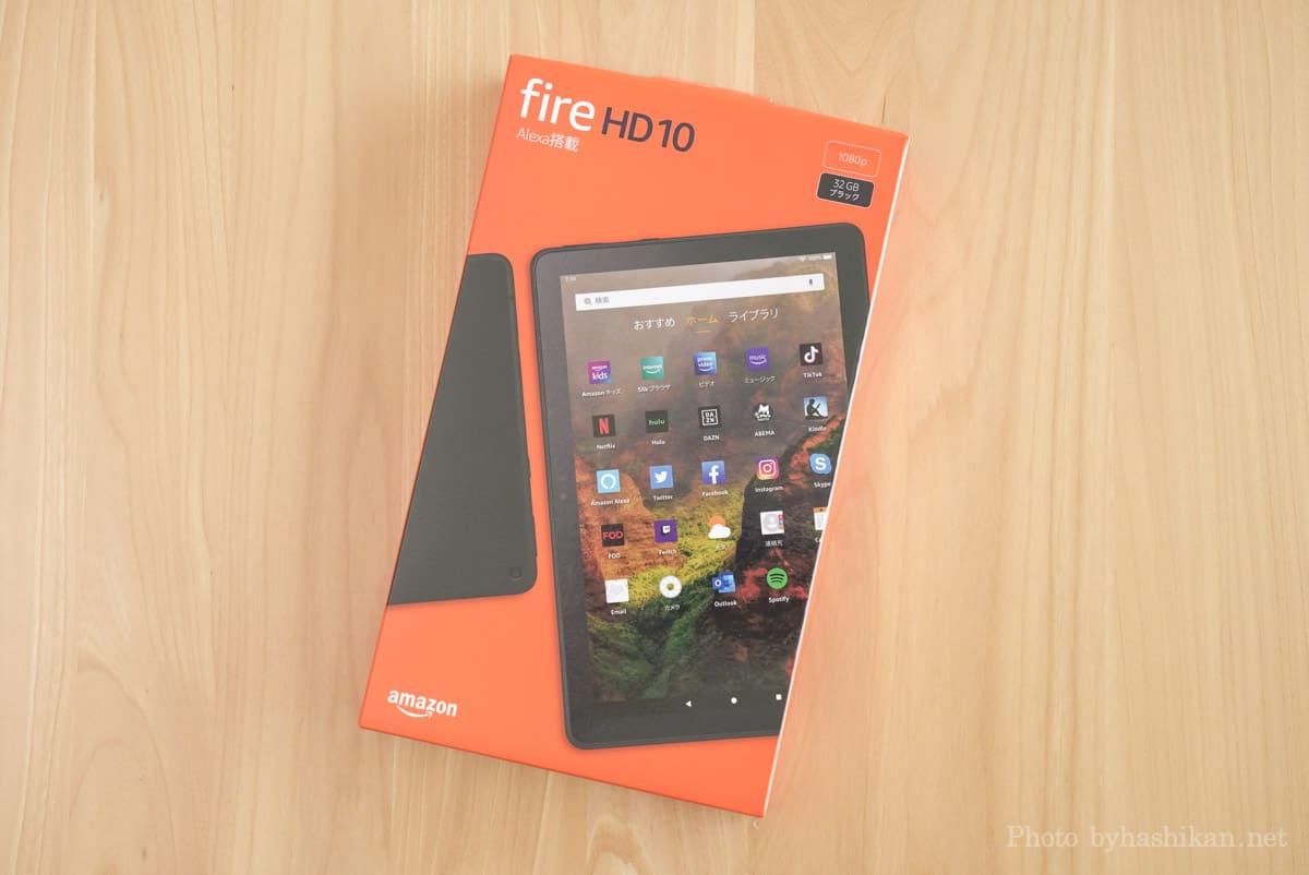 第11世代 Fire HD 10 2021年モデルの外箱の画像