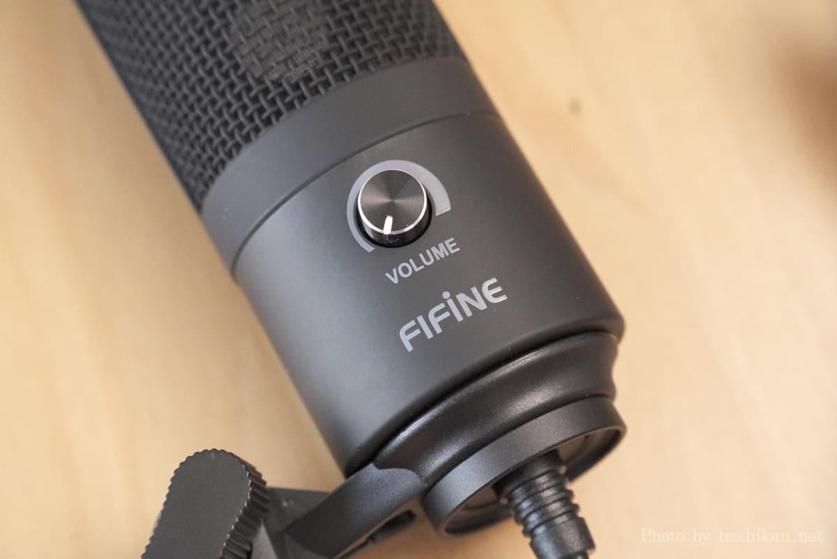 FIFINE K669B のボリュームノブ部分の拡大画像