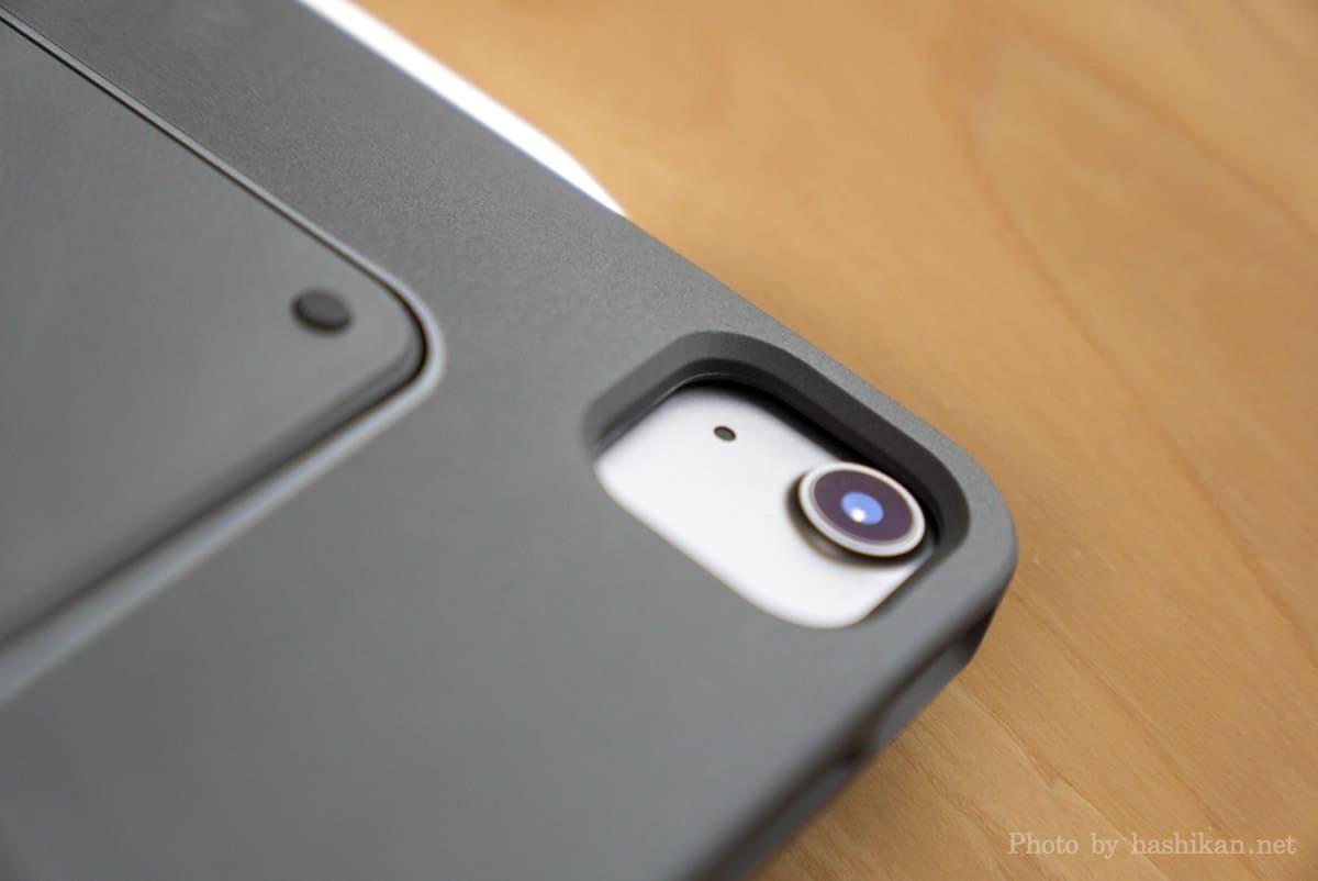 iPadにMOFT Floatを取り付けた状態でのカメラ部分の拡大画像