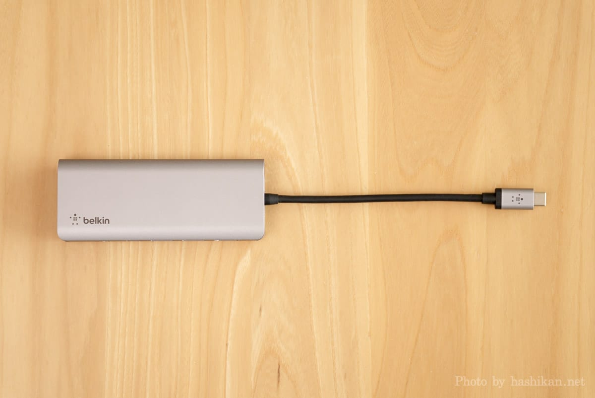 Belkin USB-C 7-in-1マルチポートハブアダプターを真上から撮影した画像