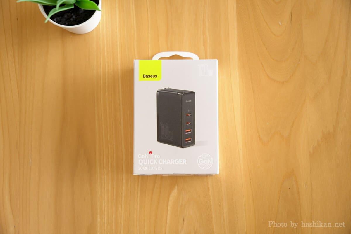 Baseus GaN2 Pro Quick Chargerの外箱画像