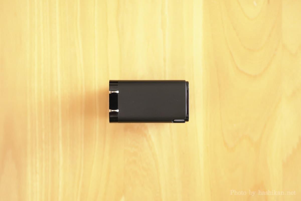 Baseus GaN2 Pro Quick Chargerを上側からみた画像