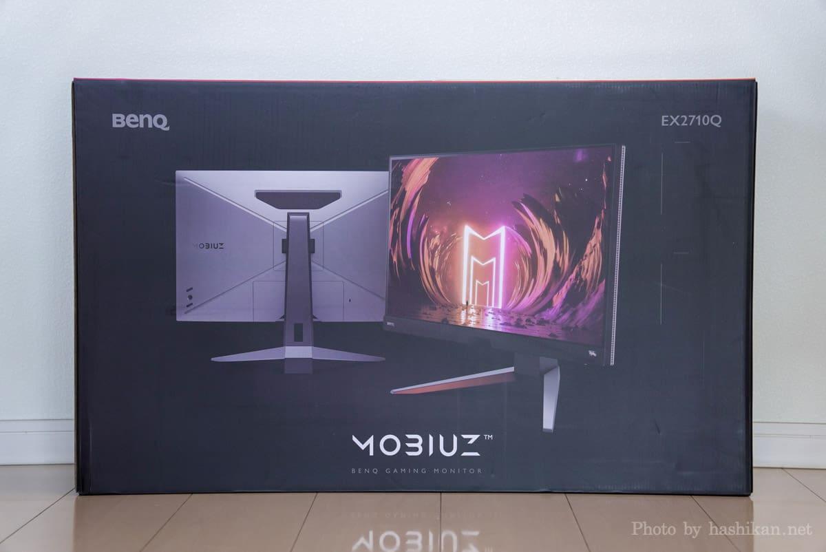 BenQ MOBIUZ EX2710Q の外箱の表側の画像