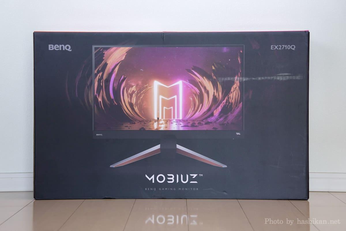 BenQ MOBIUZ EX2710Q の外箱の裏側の画像