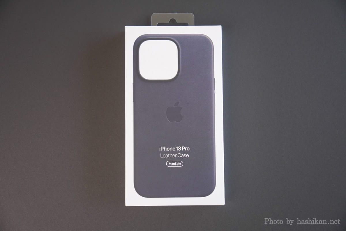 iPhone 13 Pro のApple純正レザーケースの外箱画像